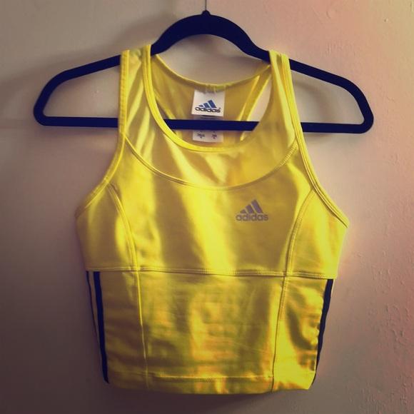 12328704ddbe9 adidas Tops - Adidas yellow athletic crop top